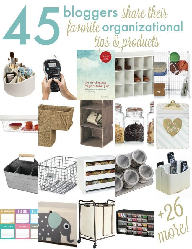 45 Favorite Organizational Products from your Favorite Bloggers www.thirtyhandmadedays.com