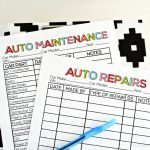 Printable Auto Maintenance Records from www.thirtyhandmadedays.com