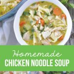 Homemade Chicken Noodle Soup - an amazing soup recipe from www.thirtyhandmadedays.com