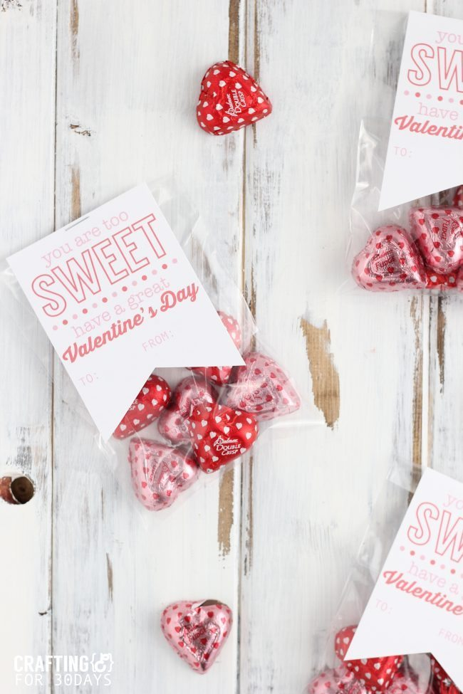 Printable Valentine's Day Gift Tags from Crafting E for Thirty Handmade Days