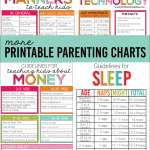 4 More Helpful Printable Parenting Charts