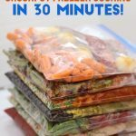 Crockpot Freezer Cooking – 7 Meals in 30 Minutes