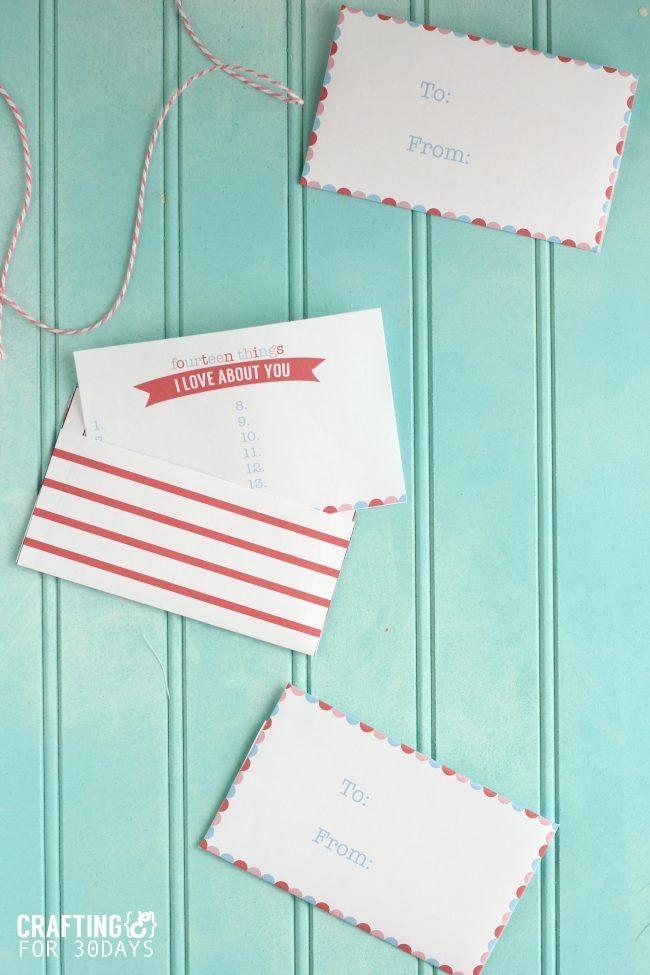 Printable Valentine's Love Notes from CraftingE via thirtyhandmadedays.com