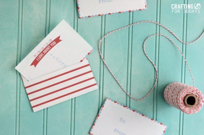 Printable Valentine's Love Notes from CraftingE for www.thirtyhandmadedays.com