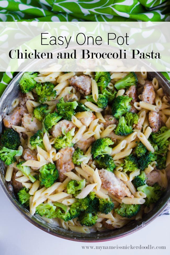 Easy One Pot Chicken and Broccoli Pasta - make this dinner all in one pot!