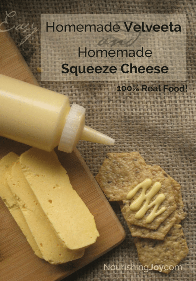 Make your own cheese whiz and velveeta cheese