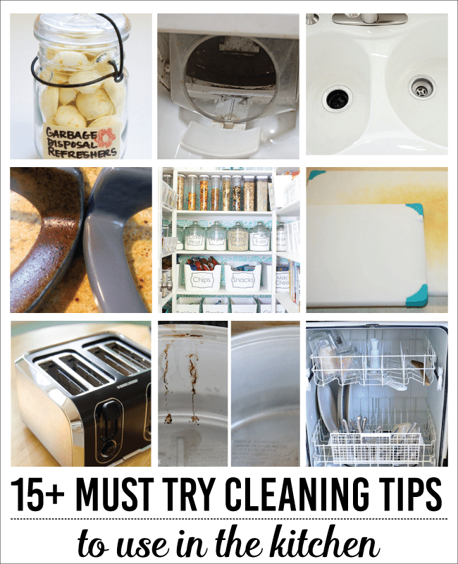 15+ Must Try Cleaning Tips for the kitchen www.thirtyhandmadedays.com
