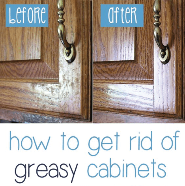 How to get rid of greasy cabinets