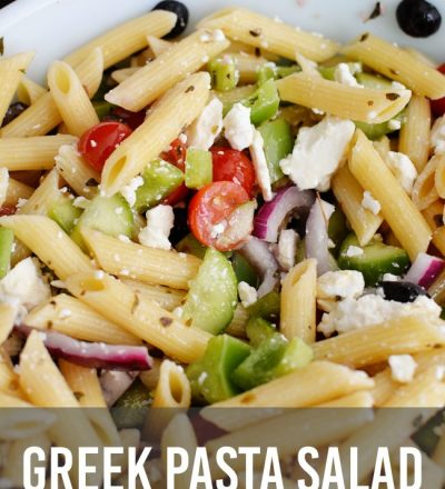 Delicious and healthy version of Greek Pasta from www.thirtyhandmadedays.com