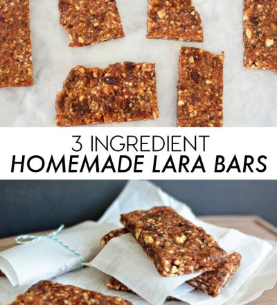 3 Ingredient Homemade Lara Bars www.thirtyhandmadedays.com