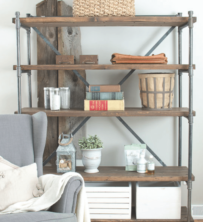 DIY Industrial Shelving Unit