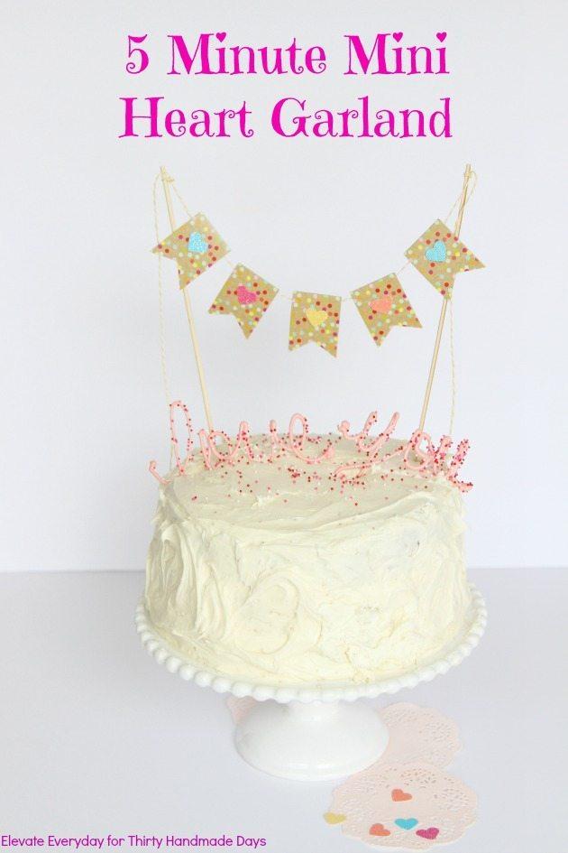 love you cake & garland