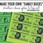 Make Your Own Family Bucks