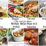 This Week for Dinner: Weekly Meal Plan #14