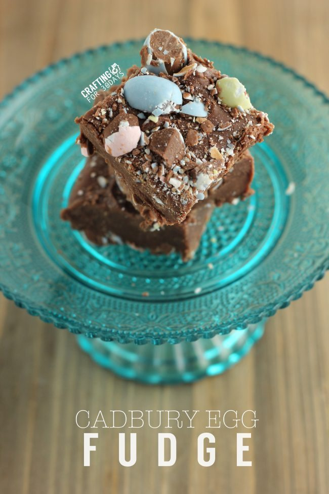 Cadbury Egg Fudge - a new take on an old classic, just in time for Easter!