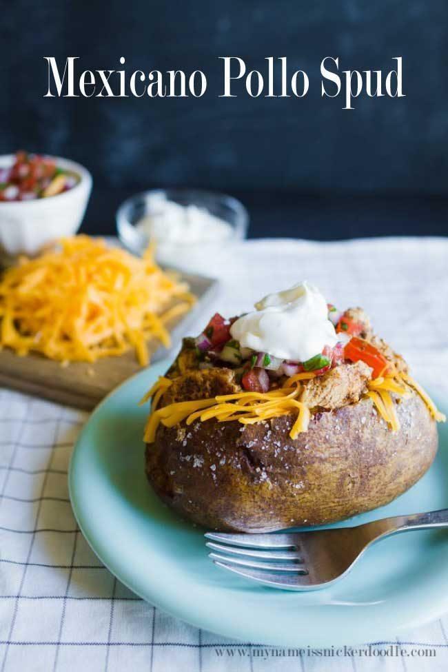 Mexicano Pollo Spud - easy dinner recipe