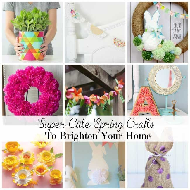 Super Cute Spring Crafts Thirty Handmade Days