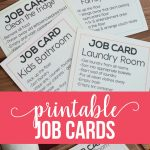 Printable Job Cards- download and use however you like! www.thirtyhandmadedays.com