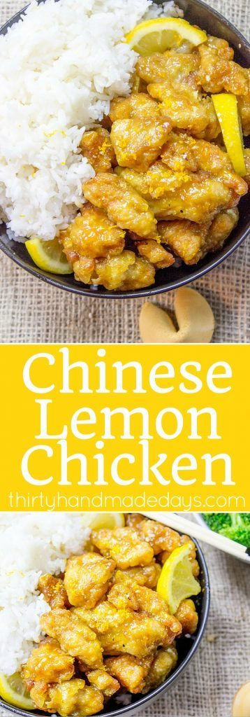 Chinese lemon chicken recipe thirty handmade days classic lemon chicken with crispy battered chicken thighs in a sweet and tangy sauce you forumfinder Images