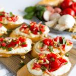 Tomato Crostini with Whipped Feta