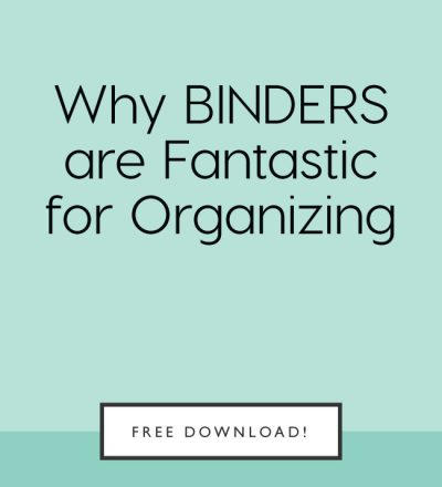 Why binders are fantastic for organizing from www.thirtyhandmadedays.com