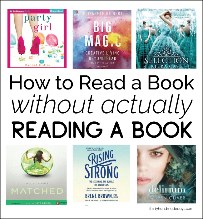 How to read a book without actually reading a book from www.thirtyhandmadedays.com