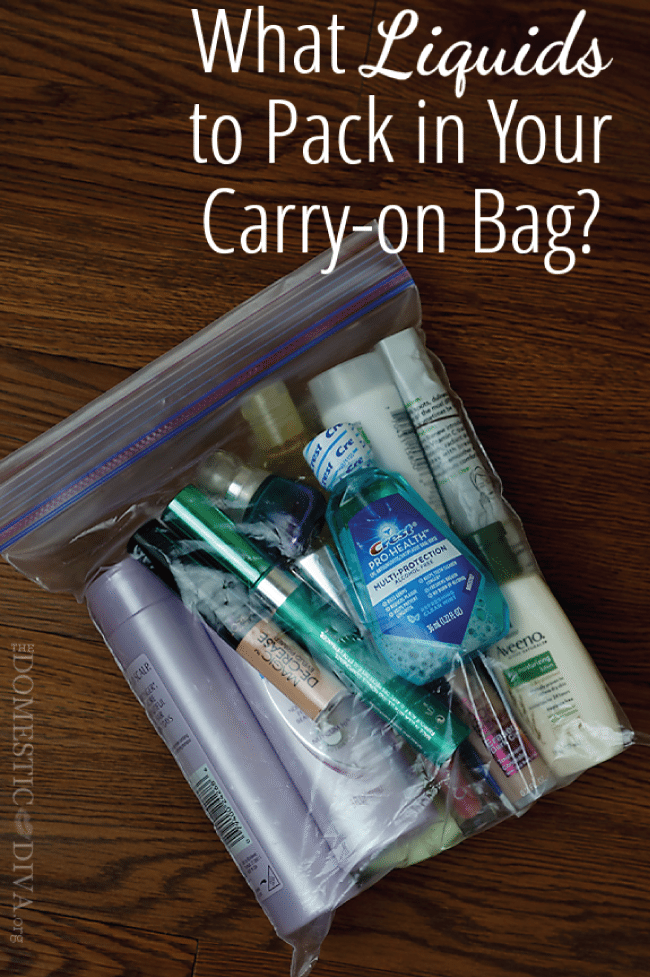 What liquids to pack in your carry on bag