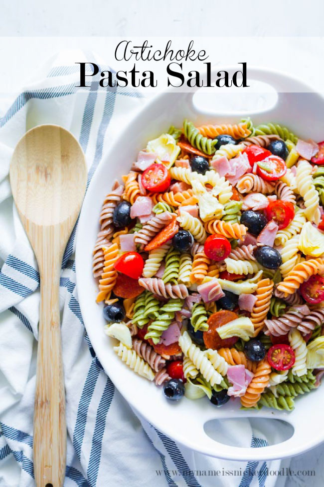 Summer Artichoke Pasta Salad Thirty Handmade Days
