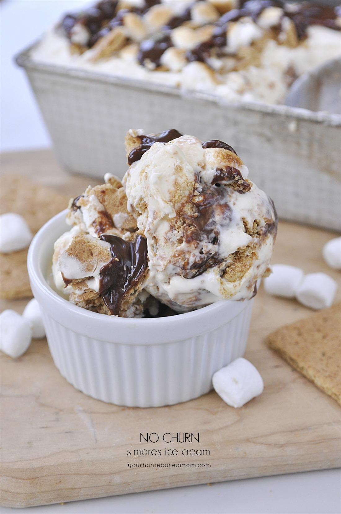 S'mores No Churn Ice Cream