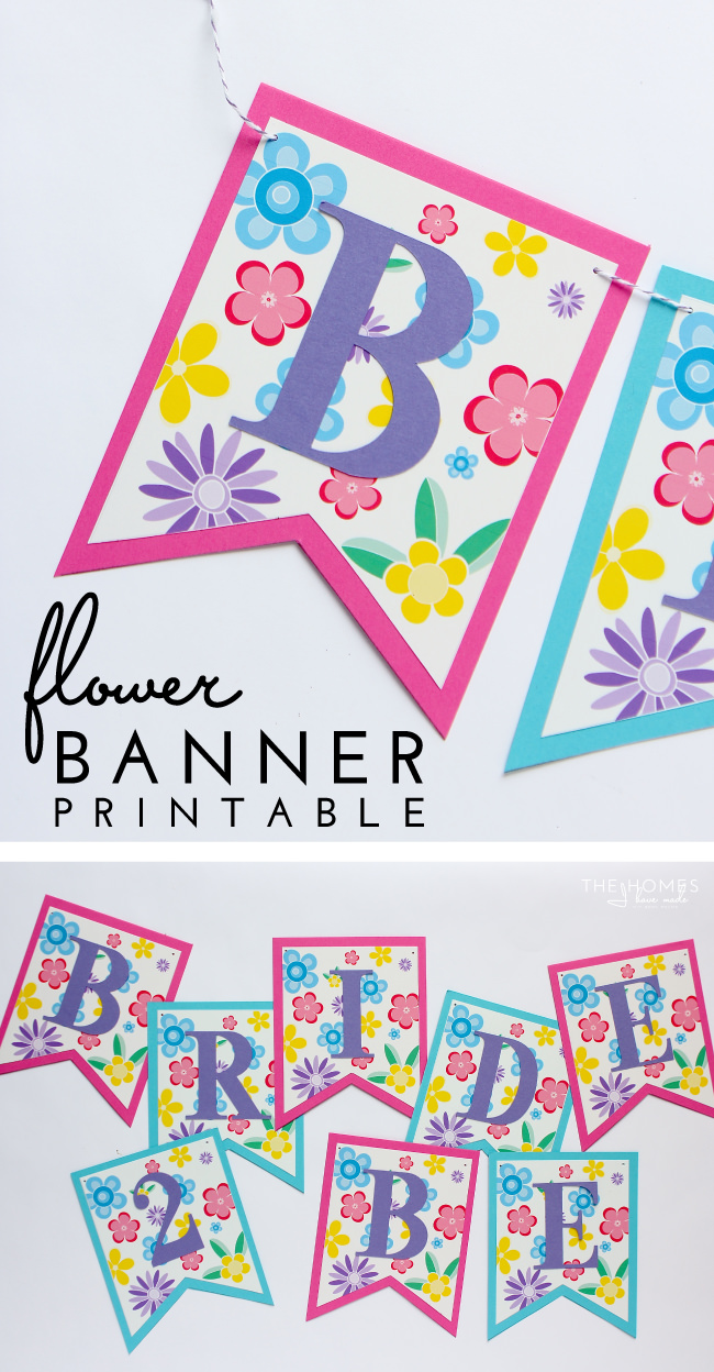 Complete your Springtime party display with this adorable and easy FREE printable flower banner!