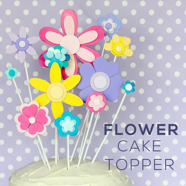 DIY Flower Cake Topper For Any Spring Soirée!