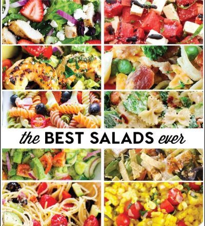 The Best Salad Recipes Ever compiled by www.thirtyhandmadedays.com