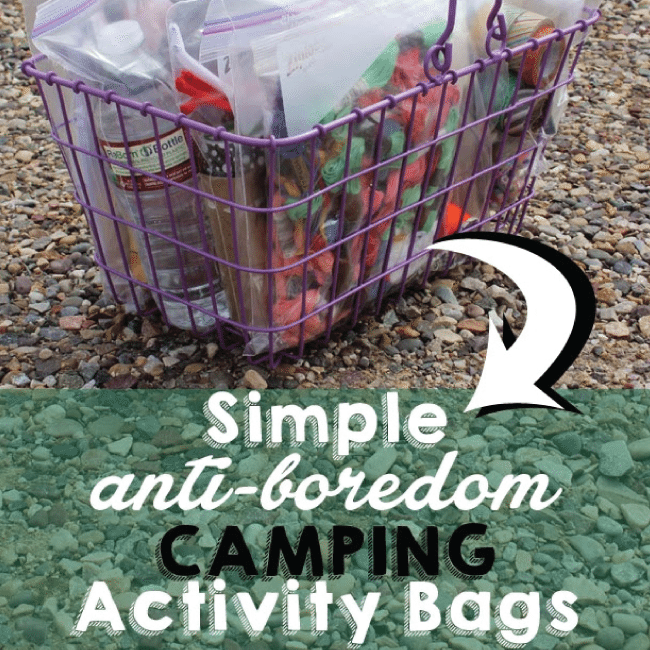 Boredom Activity Bags from Capital B