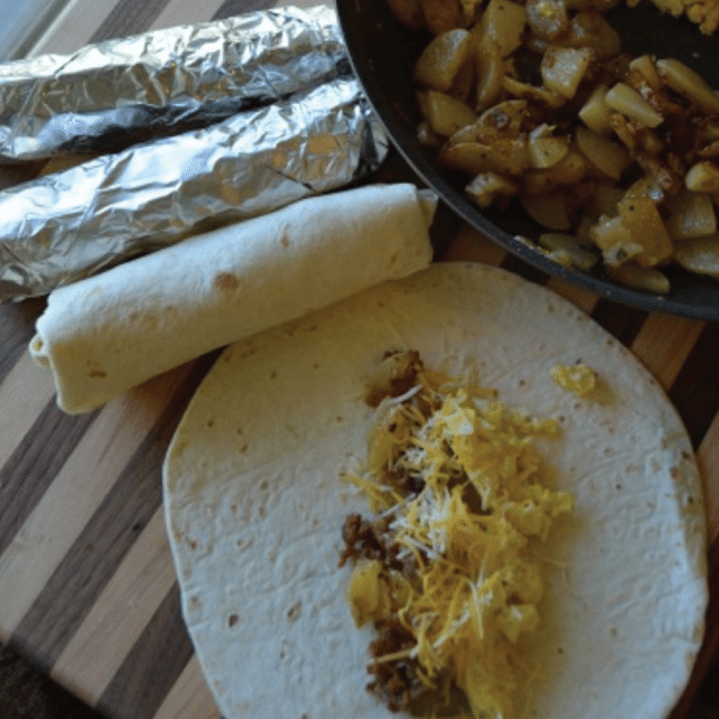 Camping Breakfast Burritos From A Thrifty Mom