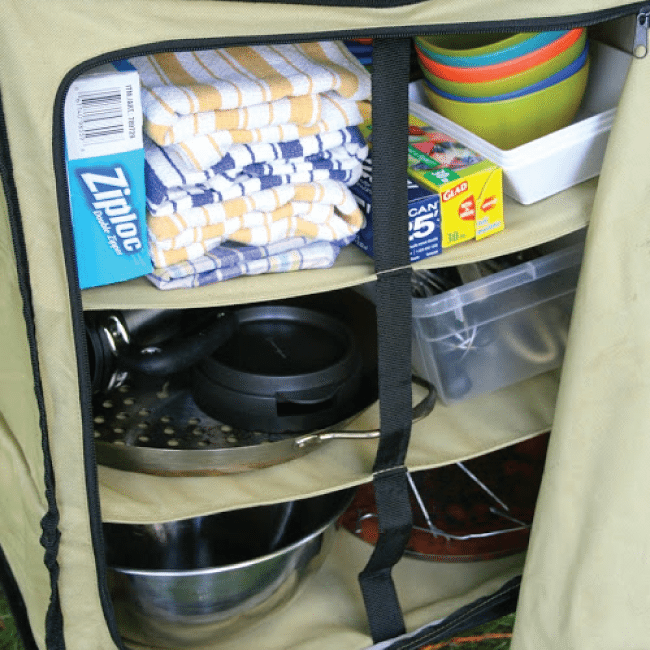 Organizing a camping kitchen from Echoes of Laughter