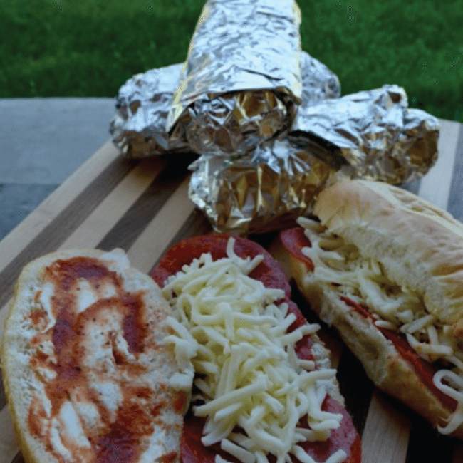 French Bread Pizza for Camping from A Thrifty Mom
