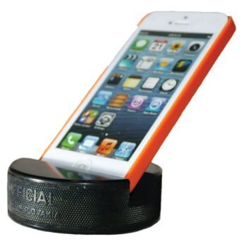 Unique Father's Day Gift Ideas - Hockey Puck Phone Stand