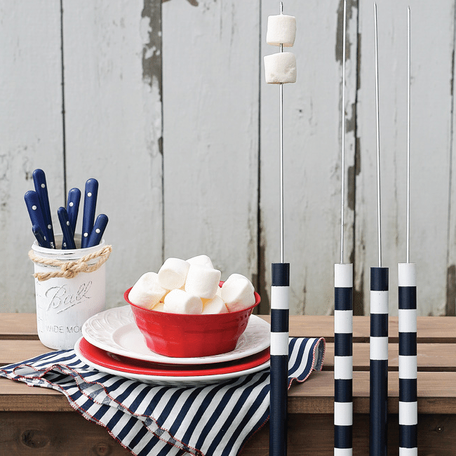 DIY Marshmallow Roasting Sticks for Camping from Love Grows Wild