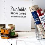 Printable Recipe Cards available from www.thirtyhandmadedays.com