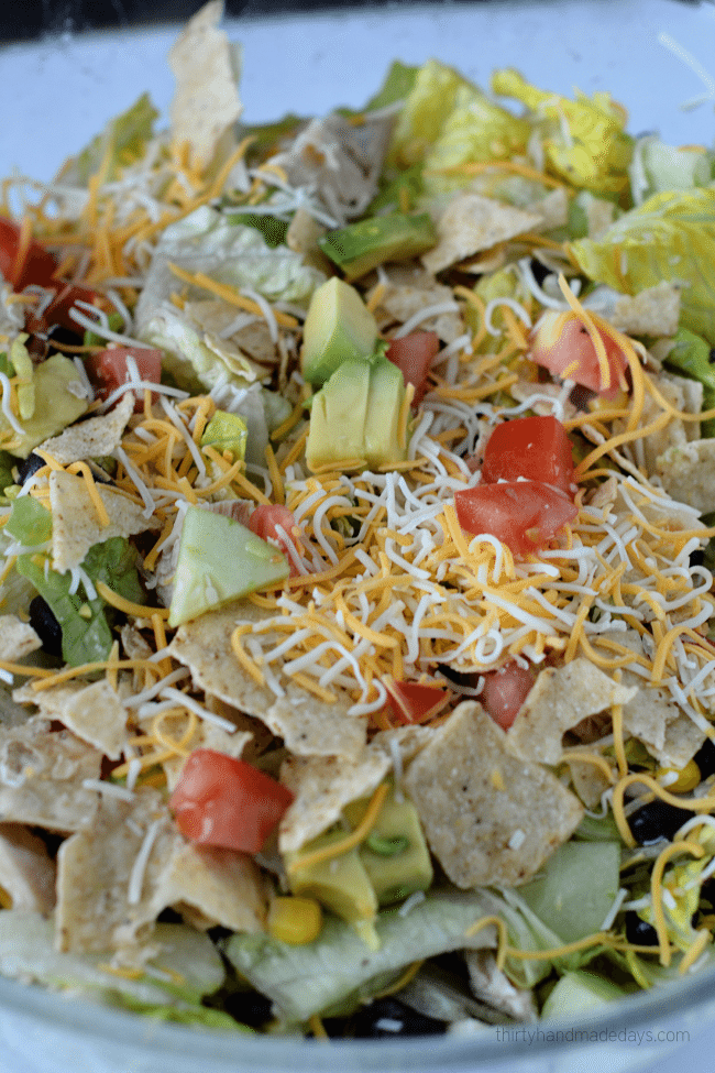 Santa Fe Chicken Salad with from www.thirtyhandmadedays.com