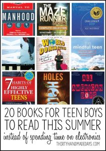 20 Books for Teen Boys to Read This Summer from www.thirtyhandmadedays.com