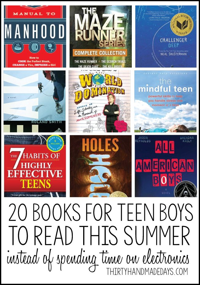 books boys teen read summer teens boy christmas awesome tweens rules printable thirtyhandmadedays reading tween project fun crafts projects gifts