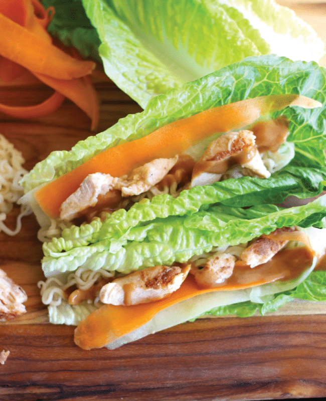 Thai Lettuce Chicken Wraps