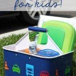 DIY Car Caddie for Kids