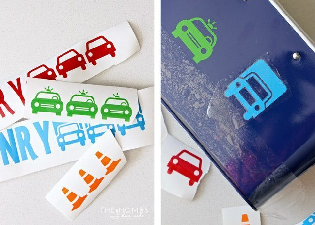 Personalize a plain utensil caddie with travel-themed stickers!