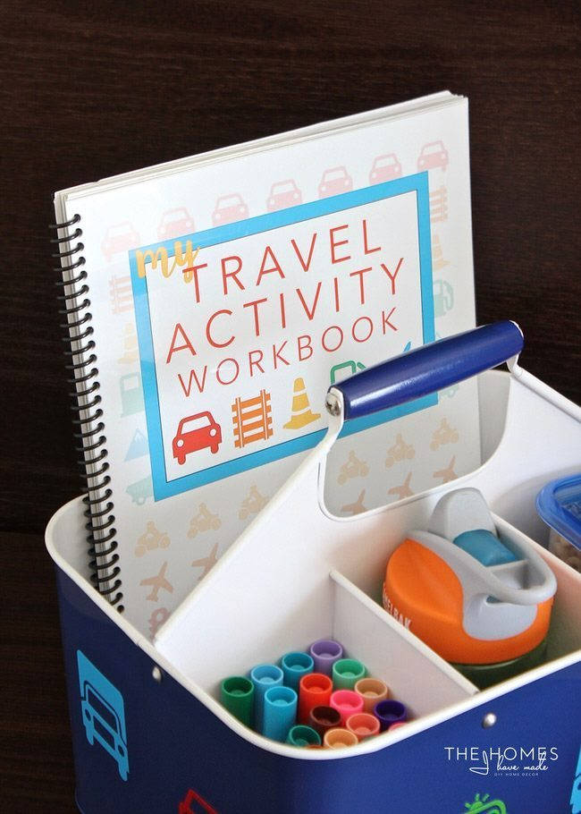 Make a Travel Activity Workbook to keep the kids entertained on your next car trip!