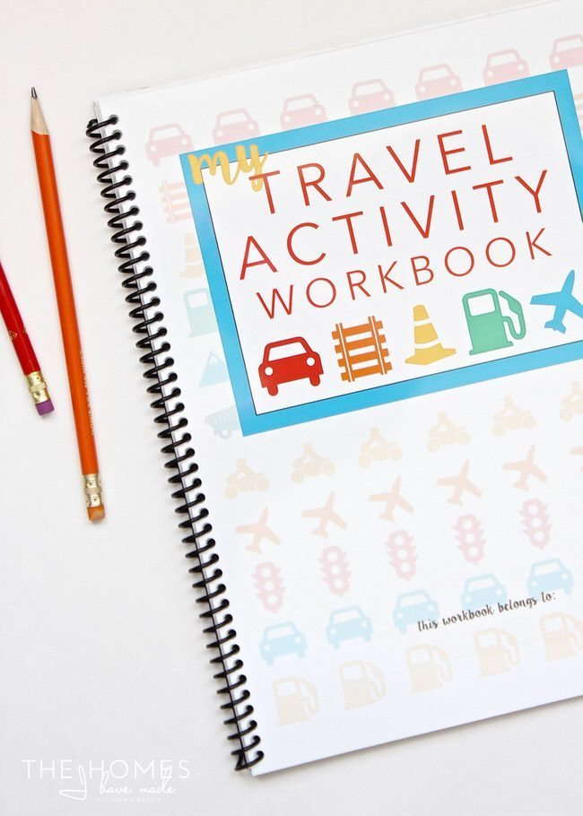 This FREE printable Travel Activity Sticker Book is a great way to keep the kids entertained on your next trip!