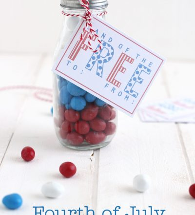 4th of July Gift Idea + Printable Tag