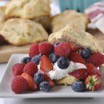 Patriotic Lemon Berry Shortcakes with Lemon Cream