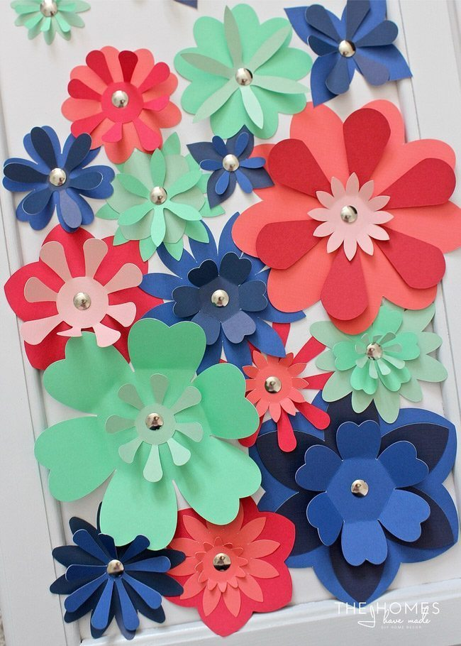 Diy Paper Flower Artwork Thirty Handmade Days